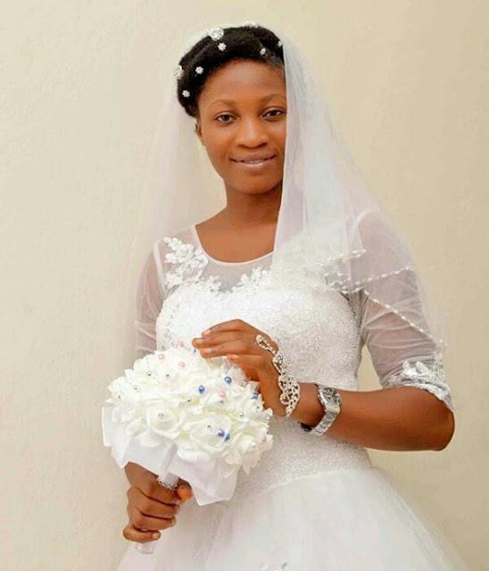beautiful nigerian bride wore makeup