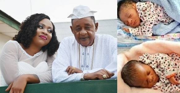 Image result for Alaafin Of Oyo Welcomes Twins (photos)