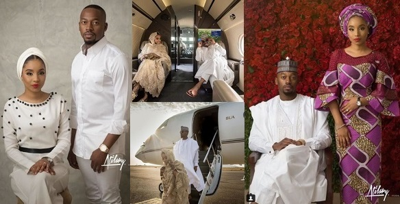 Levels: Couple take their pre-wedding photos aboard a private jet (See Photos)