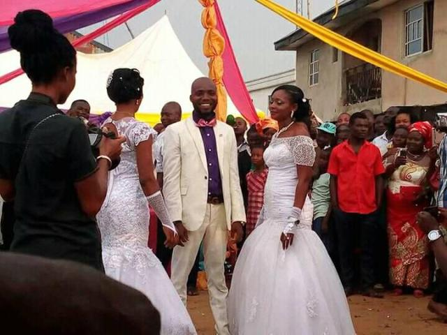 Man weds two women