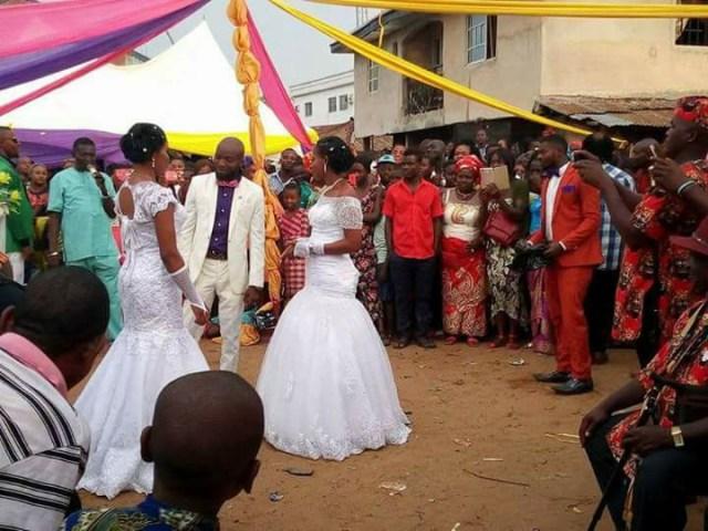 Man weds two women