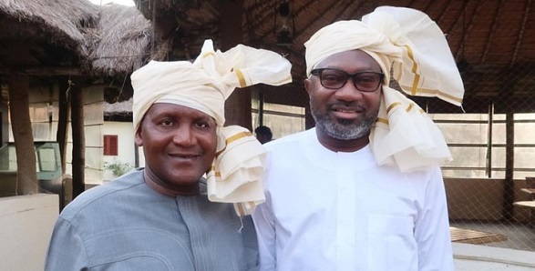Billionaire friends, Dangote and Otedola rock Indian Head Scarf (Photos)