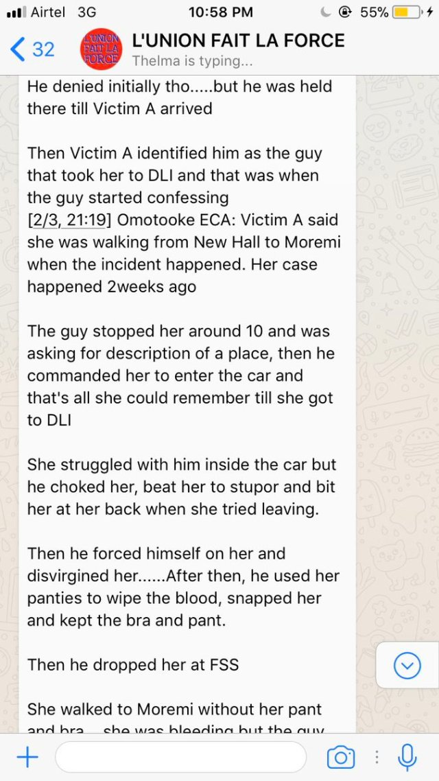 "Yesterday night, a young man, tagged as a ""serial rapist"" was caught in the University of Lagos (UNILAG).  According to viral reports circulating in the university, they claim the alleged rapist had molested several students in the school… one of which was a virgin before the gruesome incident."