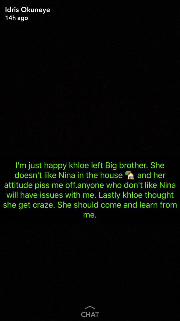 Bobrisky Blasts Evicted Housemate