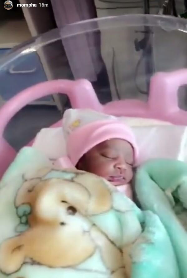 Mompha welcomes baby girl