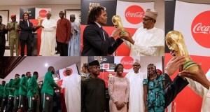 President Buhari receives original FIFA World Cup Trophy