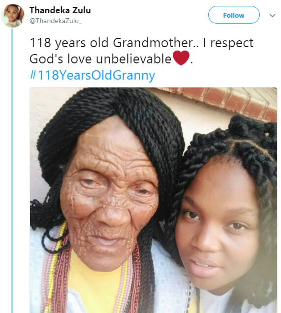 118 year old Grandmother