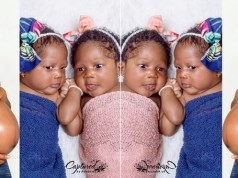 Nigerian lady welcomes twins