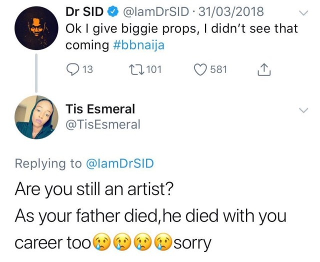 """Dr Sid is a wasted soul, his career died with his father"" – Follower slams Dr Sid, he responds"