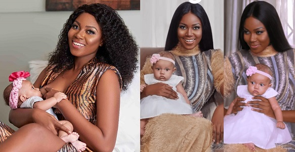 Yvonne Nelson shares breastfeeding photo
