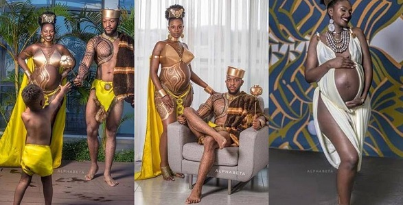 Couple set the internet on fire with their maternity photoshoot