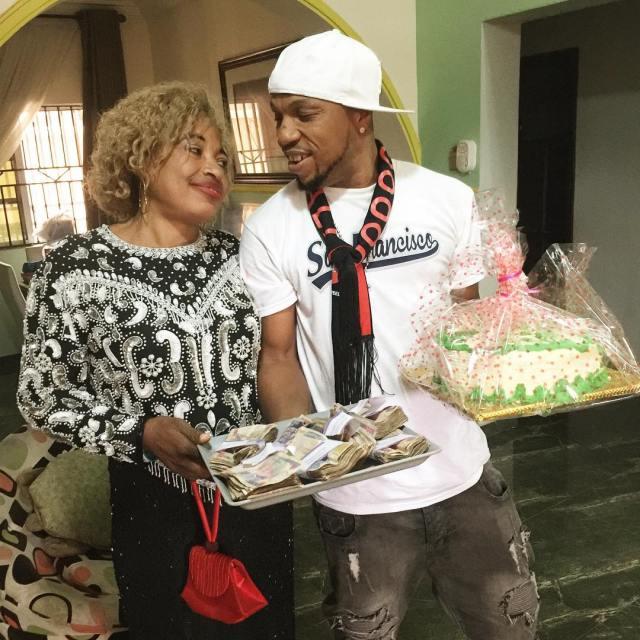 Charles Okocha celebrates
