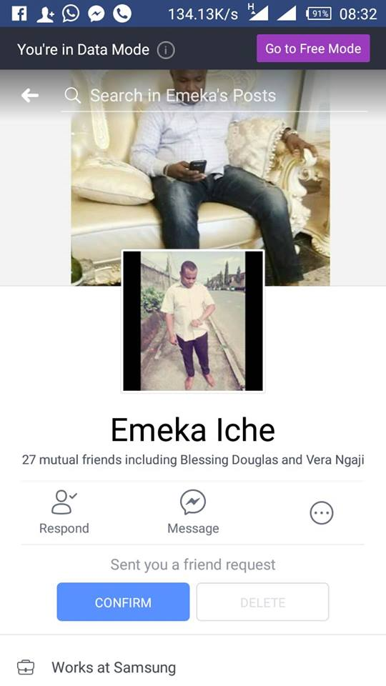 Nigerian lady rains curses on a man who sent her friend request after insulting her sister