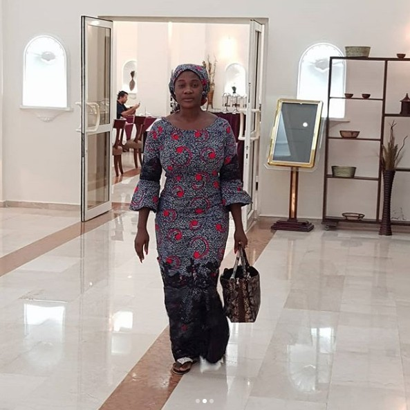 Mercy Johnson buries mother