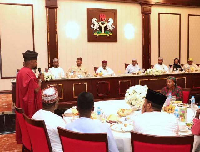 #BBNaija: Tobi Bakre meets President Buhari (Photos)