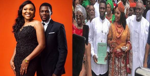Image result for My wedding cost more than N10million – Olu Jacobs' daughter-in-law, Blessing Douglas claims