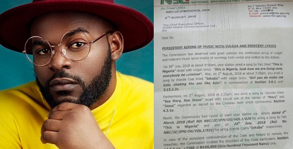 """GIST:""""I might sue NBC if ban on 'This is Nigeria' is not lifted"""" – Falz"""