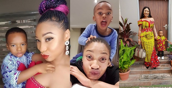 Image result for Tonto Dikeh cries out after spending ₦180k on her son's diapers (Video)