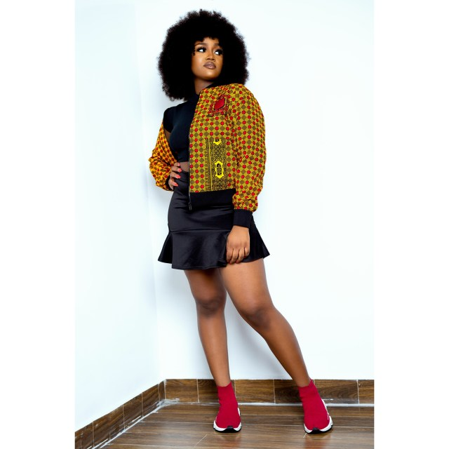 Davido's girlfriend, Chioma releases stunning new photos of herself rocking 7 different outfits