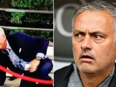Jose Mourinho Suffers Embarrassing Fall