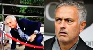 Jose Mourinho Suffers Embarrassing Fall