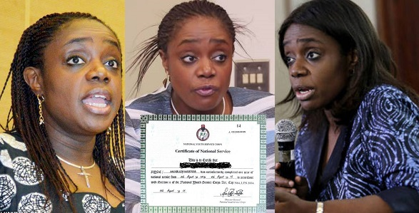 Image result for Kemi Adeosun reveals she resigned cause she found out her NYSC discharge certificate was not 'genuine'