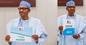 President Buhari receives APC nomination form