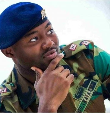 Handsome gallant Ghanaian soldier