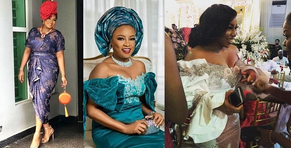Image result for Omotola, Shaffy Bello, Rita Dominic and others turn up for Lala Akindoju's traditional wedding (Photos)