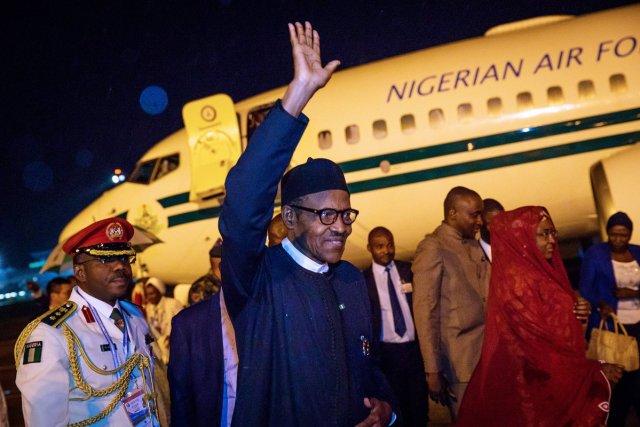 Pres Buhari arrives Nigeria