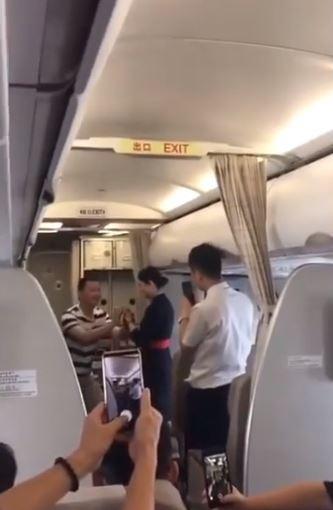 Flight attendant sacked