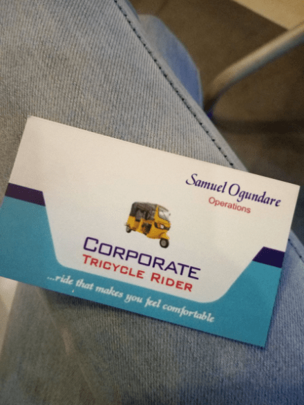 Corporate keke driver