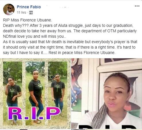 Final Year Student Dies