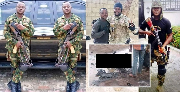 Image result for Gallant soldier who just returned from fighting Boko Haram killed in Abia Pipeline explosion