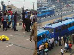 BRT vehicle crushes power bike rider