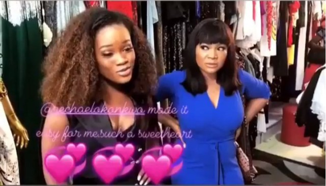 Cee c makes Nollywood first appearance
