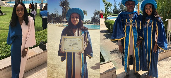 Image result for BBNaija star Anto Lecky honoured with Doctorate Degree (Photos)