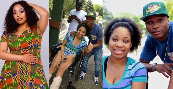Image result for Nigerian Lady shares photos of when Wizkid visited her at the hospital after she broke her legs, 6 years ago.