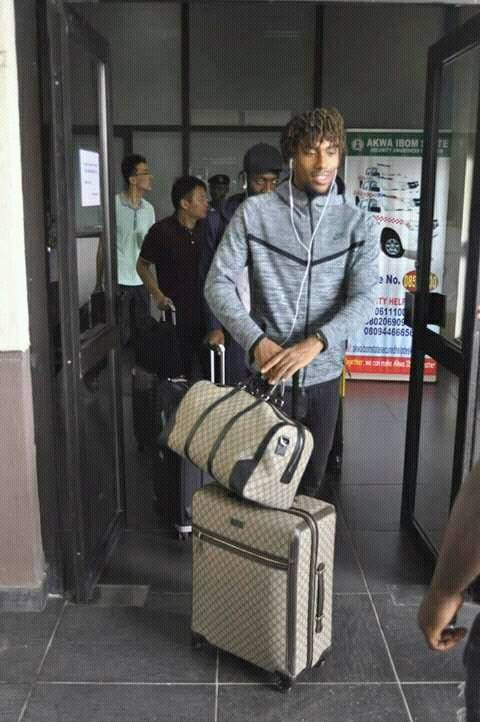 Super Eagles Arrive Uyo
