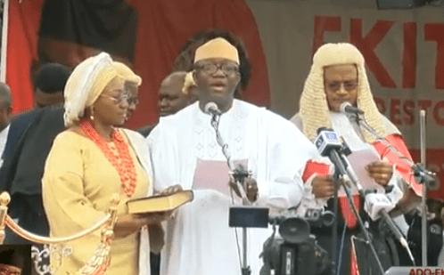 Kayode Fayemi sworn in