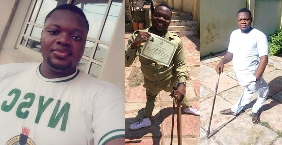 Image result for Polio victim shares emotional story, seeks for a job as he finishes NYSC