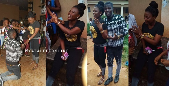 Image result for 200 level Uniben student excited after her boyfriend proposed to her
