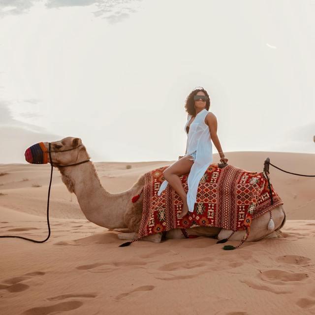 Toke Makinwa rides camel