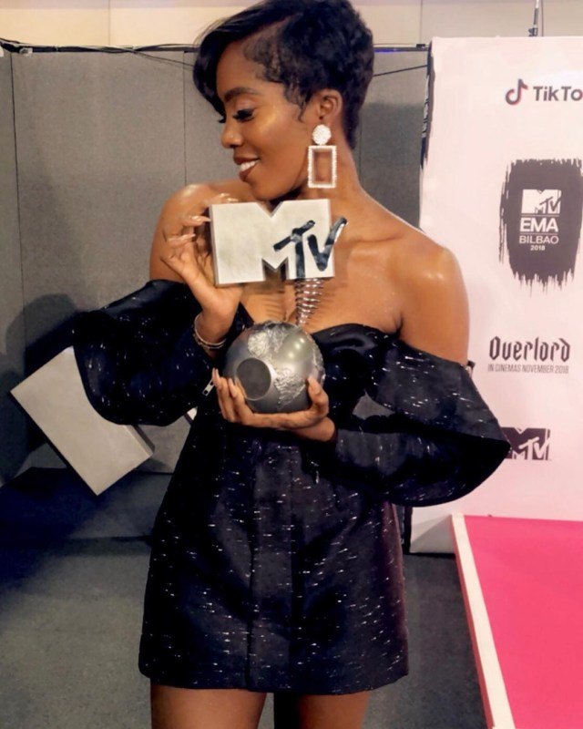 Tiwa Savage wins Best African Act