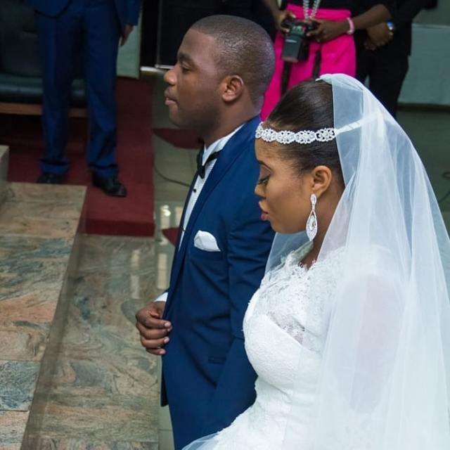 Benita Okojie showers husband