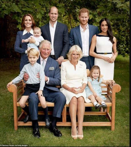 Prince Charles pictured with his entire dynasty as he celebrates his 70th birthday