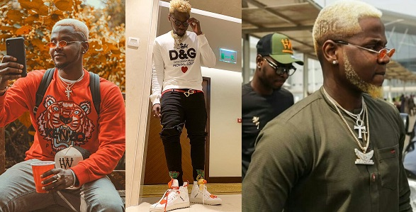 Image result for Fans react to Kizz Daniel's blonde hair and beard.