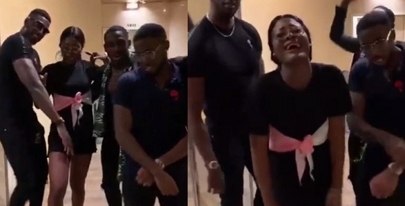 Image result for BBNaija's Alex dancing with Kupe boys in Nigeria (Photos)