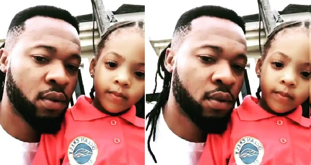 Image result for Singer Flavour shares video of himself and his daughter, Sophia speaking Igbo.