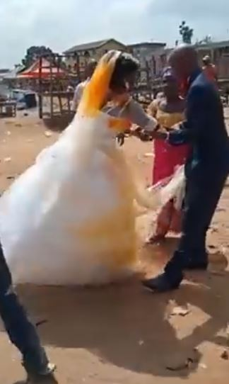 First wife attacks husband's new bride